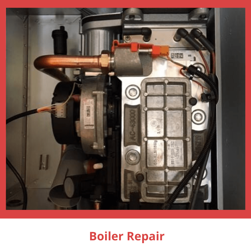 Boiler being repaired by Heat Tech of Swindon