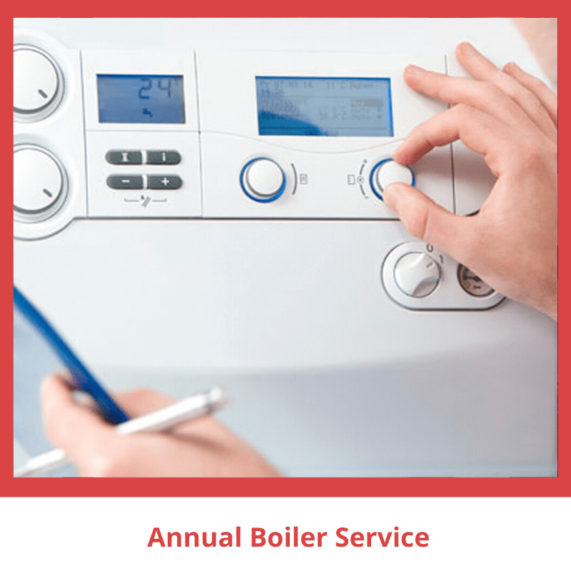 White Boiler being serviced
