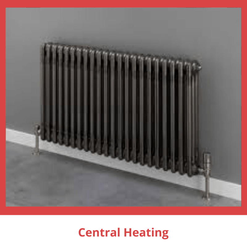 image of a grey radiator against grey wall